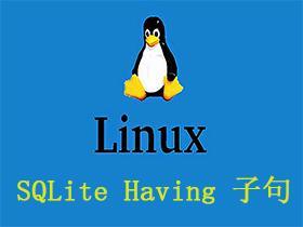 SQLite Having 子句