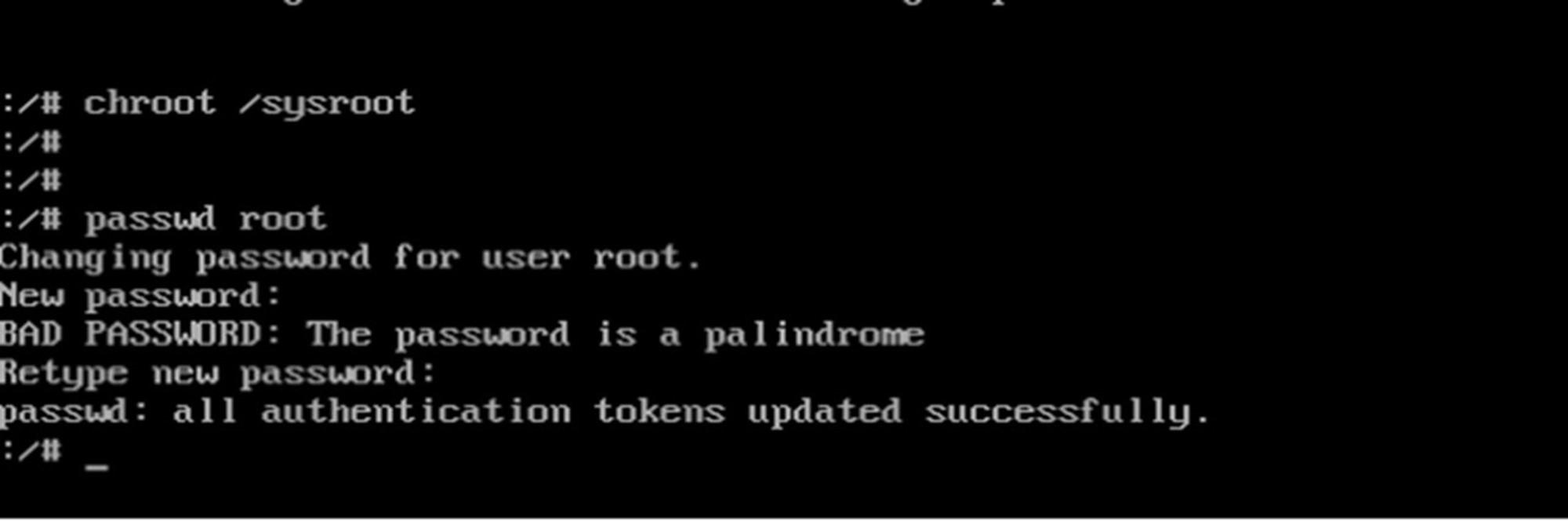 Linux网络配置和重置ROOT密码