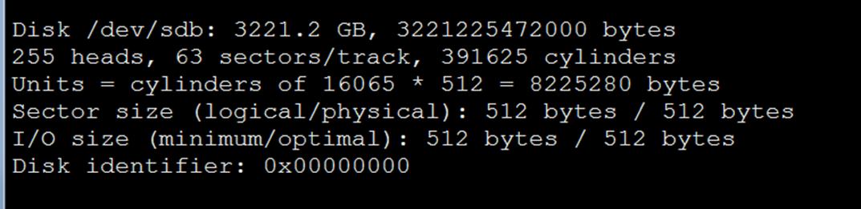 Linux服务器分区格式化大容量数据盘