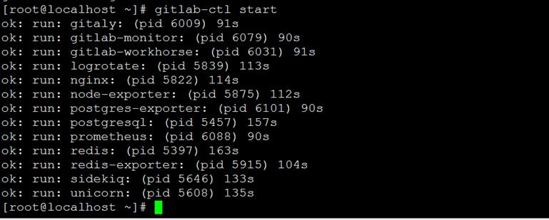 CentOS 7.4搭建Gitlab服务器