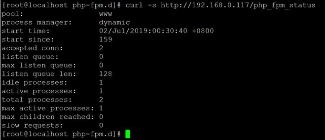 Nginx开启php-fpm状态页及状态详解