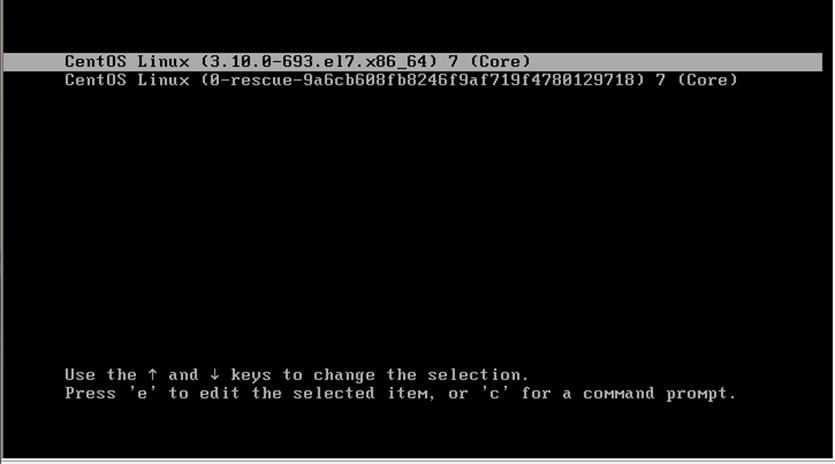 CentOS 7.4和CentOS 6.9系统重置ROOT密码