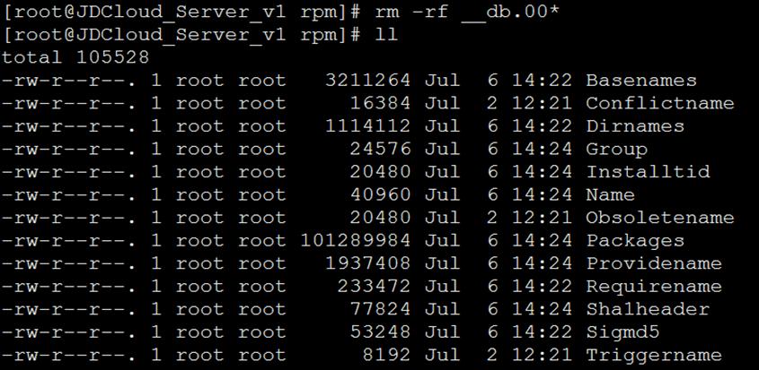 误操作YUM导致error,rpmdb解决方法