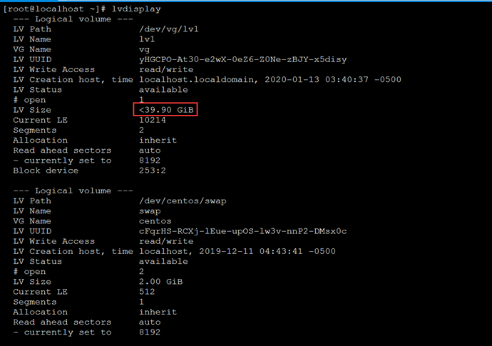 Linux系统LVM磁盘扩容(EXT4文件系统)