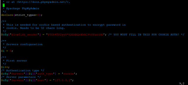 Linux环境安装phpMyadmin