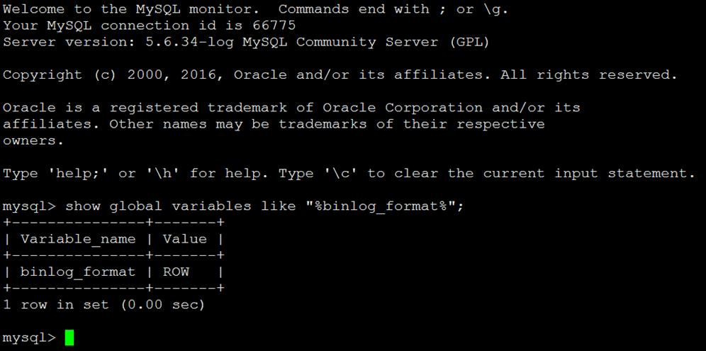 MySQL Binlog日志三种模式